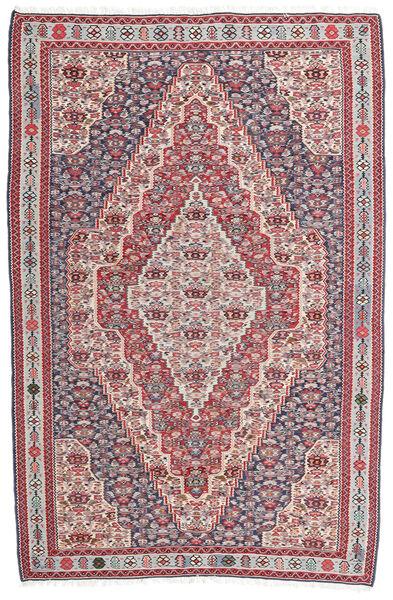 Kelim Senneh Matto 148X225 Itämainen Käsinkudottu Tummanharmaa/Vaaleanharmaa (Villa, Persia/Iran)