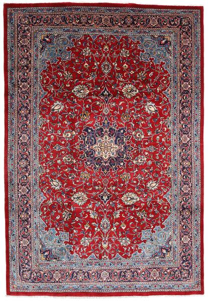 Mahal Matto 220X325 Itämainen Käsinsolmittu Tummanpunainen/Vaaleanvioletti (Villa, Persia/Iran)