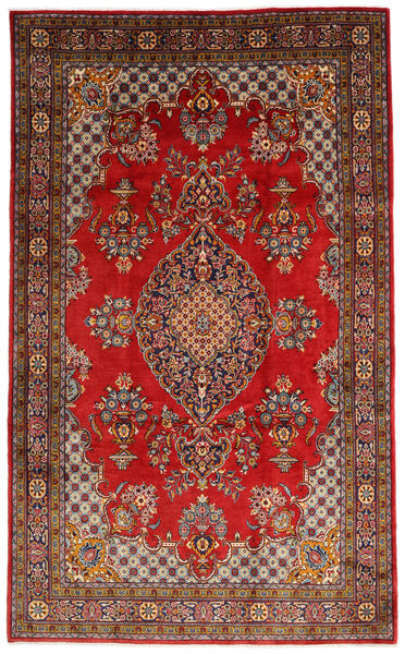 Mahal Matto 205X335 Itämainen Käsinsolmittu Tummanruskea/Tummanpunainen (Villa, Persia/Iran)