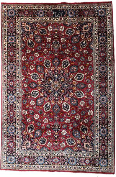 Mashad Matto 200X300 Itämainen Käsinsolmittu Tummanruskea/Musta (Villa, Persia/Iran)