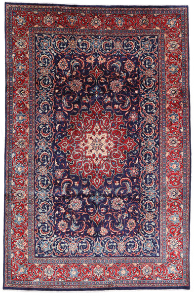 Mahal Matto 200X310 Itämainen Käsinsolmittu Vaaleanharmaa/Tummansininen (Villa, Persia/Iran)