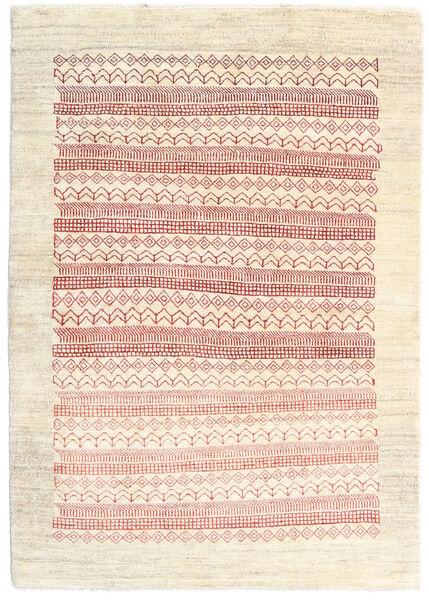 Loribaft Persia Matto 103X148 Moderni Käsinsolmittu Beige/Vaaleanpunainen (Villa, Persia/Iran)