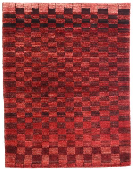 Loribaft Persia Matto 108X141 Moderni Käsinsolmittu Tummanpunainen/Ruoste (Villa, Persia/Iran)