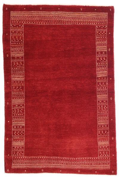 Loribaft Persia Matto 100X153 Moderni Käsinsolmittu Punainen/Tummanpunainen (Villa, Persia/Iran)