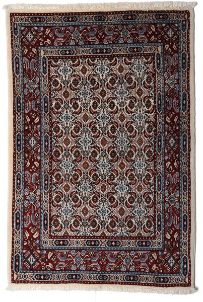 Moud Matto 78X115 Itämainen Käsinsolmittu Tummanruskea/Vaaleanharmaa (Villa/Silkki, Persia/Iran)