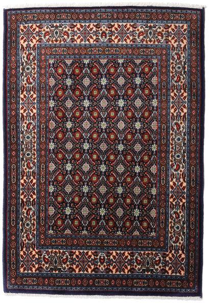 Moud Matto 80X125 Itämainen Käsinsolmittu Musta/Tummanpunainen (Villa/Silkki, Persia/Iran)