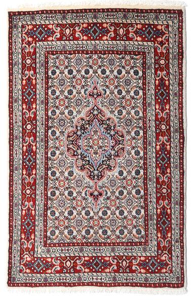 Moud Matto 80X124 Itämainen Käsinsolmittu Tummanruskea/Beige (Villa/Silkki, Persia/Iran)