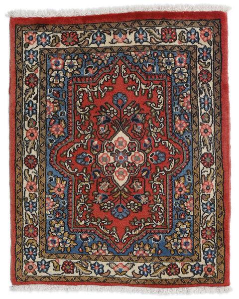 Sarough Matto 69X85 Itämainen Käsinsolmittu Tummanruskea/Tummanpunainen (Villa, Persia/Iran)