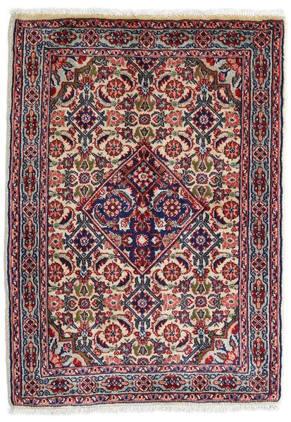 Sarough Matto 59X82 Itämainen Käsinsolmittu Tummanvioletti/Vaaleanharmaa (Villa, Persia/Iran)