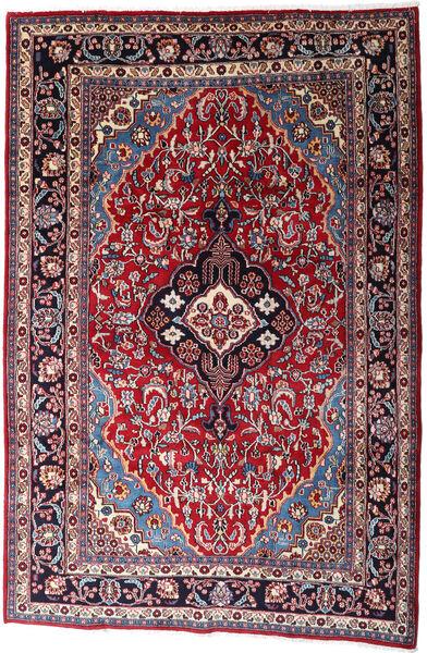 Mashad Matto 200X300 Itämainen Käsinsolmittu Musta/Punainen (Villa, Persia/Iran)