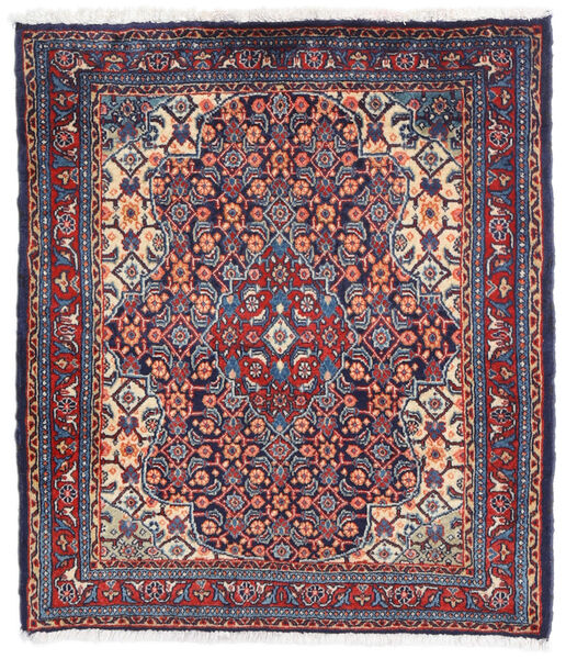 Sarough Matto 67X76 Itämainen Käsinsolmittu Tummanvioletti/Tummanharmaa (Villa, Persia/Iran)