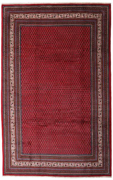 Sarough Mir Matto 200X315 Itämainen Käsinsolmittu Tummanpunainen/Tummanruskea (Villa, Persia/Iran)