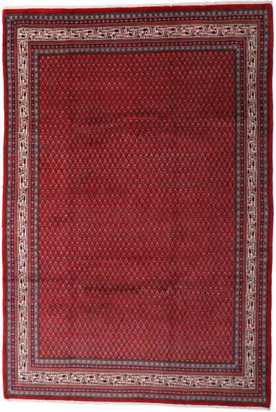 Sarough Mir Matto 212X310 Itämainen Käsinsolmittu Tummanpunainen/Punainen (Villa, Persia/Iran)