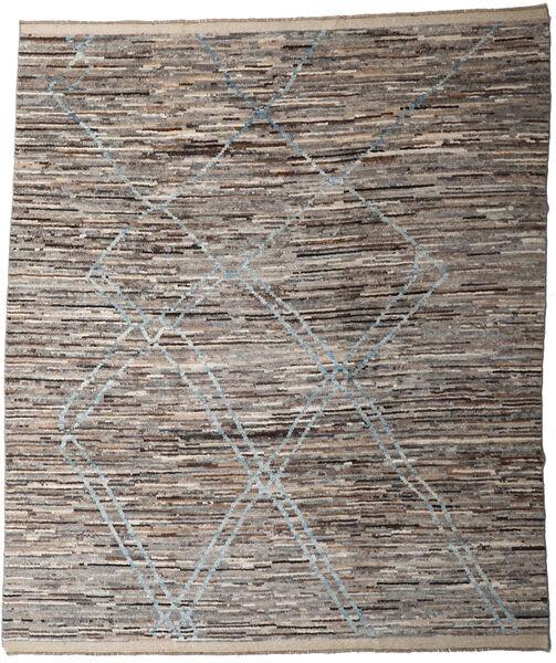 Moroccan Berber - Afghanistan Matto 252X288 Moderni Käsinsolmittu Vaaleanharmaa/Tummanharmaa Isot (Villa, Afganistan)