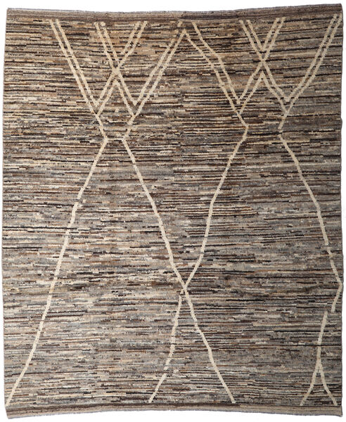 Moroccan Berber - Afghanistan Matto 253X293 Moderni Käsinsolmittu Vaaleanharmaa/Tummanharmaa Isot (Villa, Afganistan)