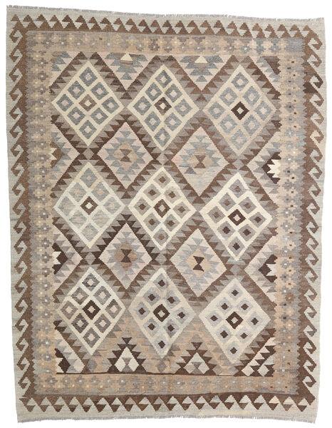 Kelim Afghan Old Style Matto 153X195 Itämainen Käsinkudottu Vaaleanharmaa/Tummanruskea (Villa, Afganistan)