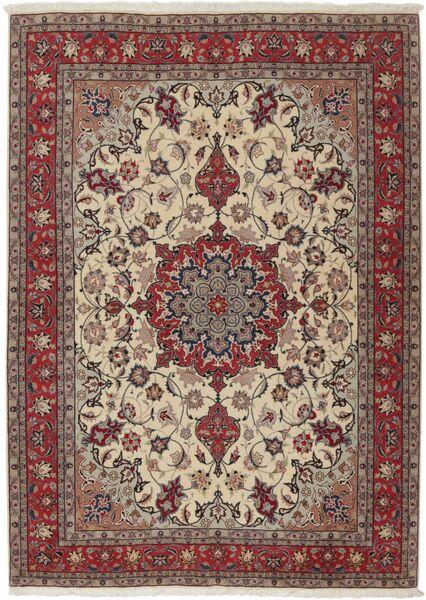 Tabriz 50 Raj Matto 155X211 Itämainen Käsinsolmittu Vaaleanharmaa/Tummanpunainen (Villa/Silkki, Persia/Iran)
