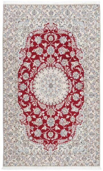 Nain 9La Matto 154X251 Itämainen Käsinsolmittu Vaaleanharmaa/Tummanpunainen (Villa/Silkki, Persia/Iran)
