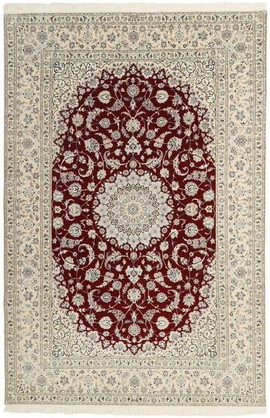 Nain 6La Matto 204X310 Itämainen Käsinsolmittu Vaaleanharmaa/Beige (Villa/Silkki, Persia/Iran)