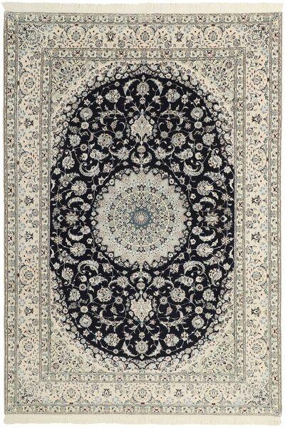 Nain 6La Matto 208X303 Itämainen Käsinsolmittu Vaaleanharmaa/Beige (Villa/Silkki, Persia/Iran)