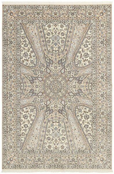 Nain 6La Matto 206X303 Itämainen Käsinsolmittu Vaaleanharmaa/Beige (Villa/Silkki, Persia/Iran)