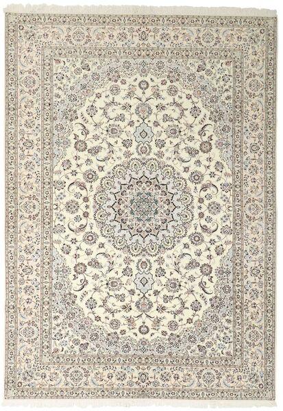 Nain 6La Matto 252X355 Itämainen Käsinsolmittu Vaaleanharmaa/Beige Isot (Villa/Silkki, Persia/Iran)