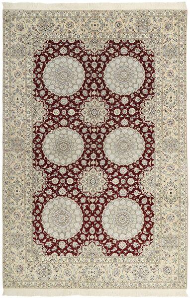 Nain 6La Matto 212X318 Itämainen Käsinsolmittu Vaaleanharmaa/Tummanbeige (Villa/Silkki, Persia/Iran)
