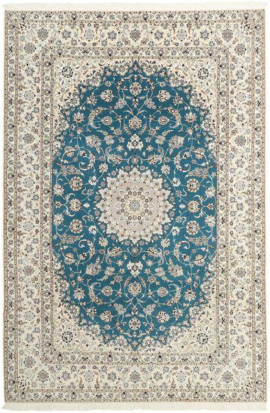 Nain 6La Matto 210X312 Itämainen Käsinsolmittu Vaaleanharmaa/Beige (Villa/Silkki, Persia/Iran)