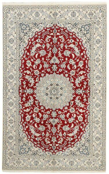 Nain 9La Matto 156X253 Itämainen Käsinsolmittu Vaaleanharmaa/Beige (Villa/Silkki, Persia/Iran)