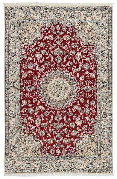 Nain 9La Matto 133X207 Itämainen Käsinsolmittu Vaaleanharmaa/Tummanpunainen (Villa/Silkki, Persia/Iran)