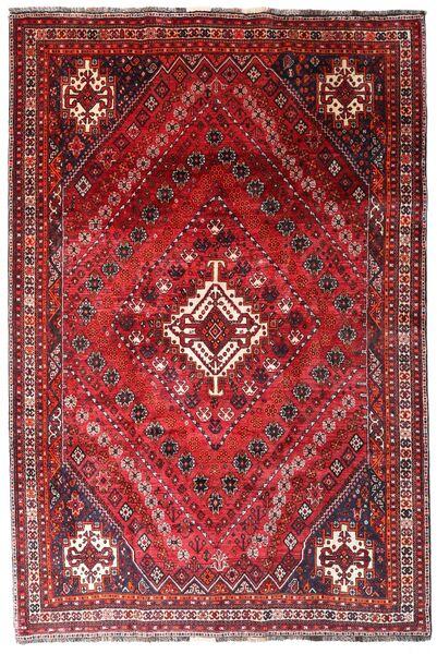 Ghashghai Matto 205X308 Itämainen Käsinsolmittu Tummanpunainen/Punainen (Villa, Persia/Iran)
