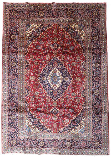 Keshan Matto 238X335 Itämainen Käsinsolmittu Tummanpunainen/Tummanruskea (Villa, Persia/Iran)