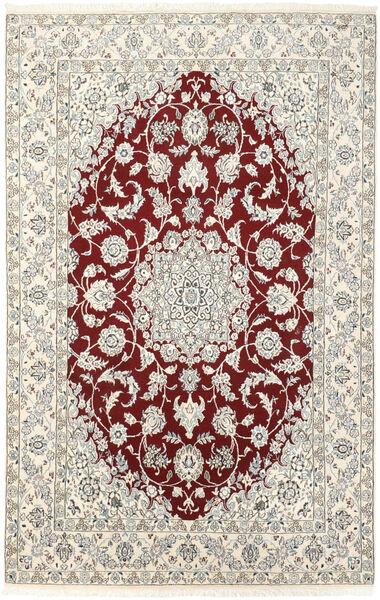Nain 9La Matto 143X223 Itämainen Käsinsolmittu Beige/Vaaleanharmaa (Villa/Silkki, Persia/Iran)