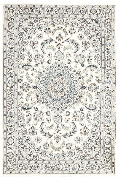 Nain 9La Matto 115X175 Itämainen Käsinsolmittu Vaaleanharmaa/Beige (Villa/Silkki, Persia/Iran)