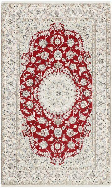 Nain 9La Matto 148X244 Itämainen Käsinsolmittu Tummanbeige/Vaaleanharmaa (Villa/Silkki, Persia/Iran)