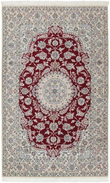 Nain 9La Matto 158X253 Itämainen Käsinsolmittu Vaaleanharmaa/Tummanpunainen (Villa/Silkki, Persia/Iran)