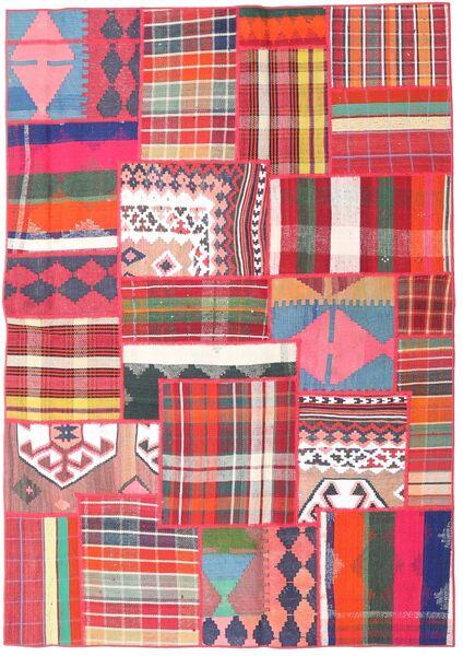 Tekkeh Kelim Matto 161X230 Moderni Käsinkudottu Vaaleanpunainen/Tummanharmaa (Villa, Persia/Iran)