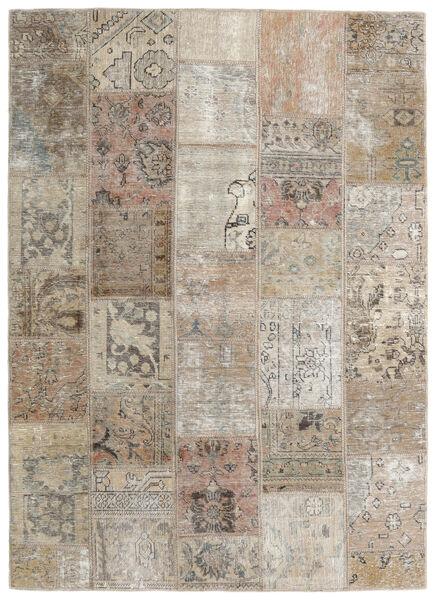 Patchwork - Persien/Iran Matto 141X199 Moderni Käsinsolmittu Vaaleanharmaa/Vaaleanruskea (Villa, Persia/Iran)