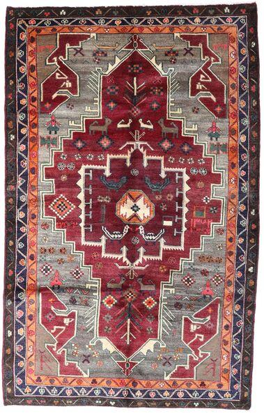 Lori Matto 159X257 Itämainen Käsinsolmittu Tummanpunainen/Tummanruskea (Villa, Persia/Iran)