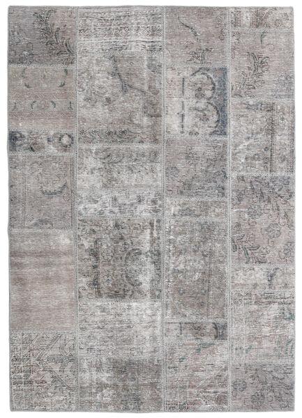 Patchwork - Persien/Iran Matto 140X200 Moderni Käsinsolmittu Vaaleanharmaa/Tummanharmaa (Villa, Persia/Iran)