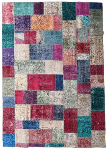 Patchwork - Persien/Iran Matto 249X354 Moderni Käsinsolmittu Violetti/Tummanharmaa (Villa, Persia/Iran)