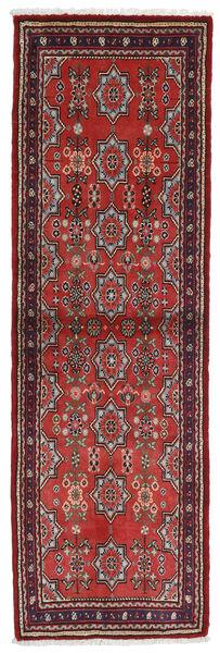 Asadabad Matto 62X200 Itämainen Käsinsolmittu Käytävämatto Tummanpunainen/Tummanruskea (Villa, Persia/Iran)