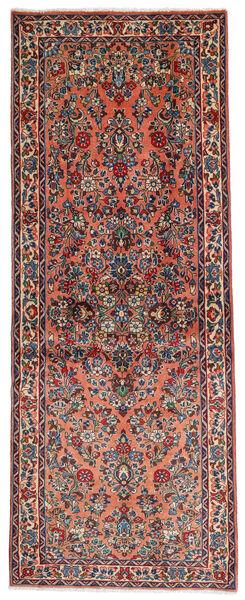 Sarough Matto 81X204 Itämainen Käsinsolmittu Käytävämatto Tummanruskea/Vaaleanruskea (Villa, Persia/Iran)