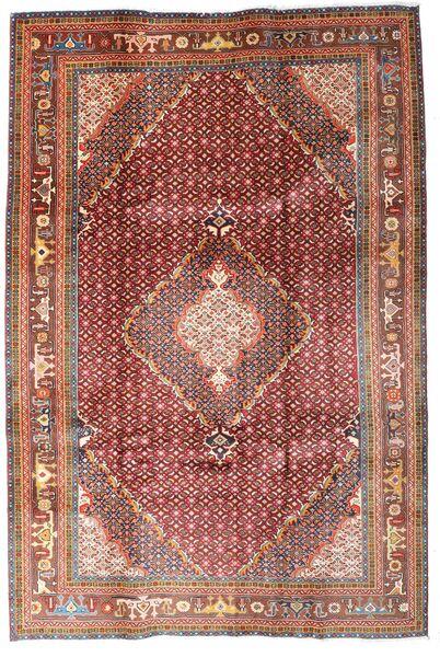 Ardebil Matto 203X307 Itämainen Käsinsolmittu Tummanpunainen/Tummanruskea (Villa, Persia/Iran)