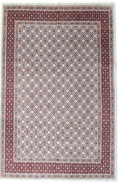 Moud Matto 197X297 Itämainen Käsinsolmittu Tummanruskea/Vaaleanharmaa (Villa/Silkki, Persia/Iran)