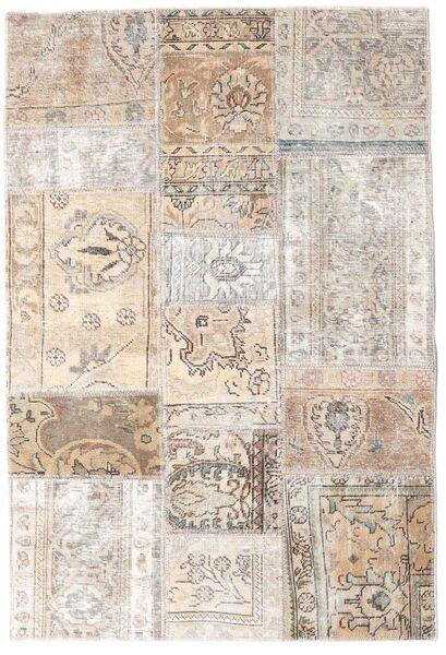Patchwork - Persien/Iran Matto 106X157 Moderni Käsinsolmittu Vaaleanharmaa/Beige (Villa, Persia/Iran)
