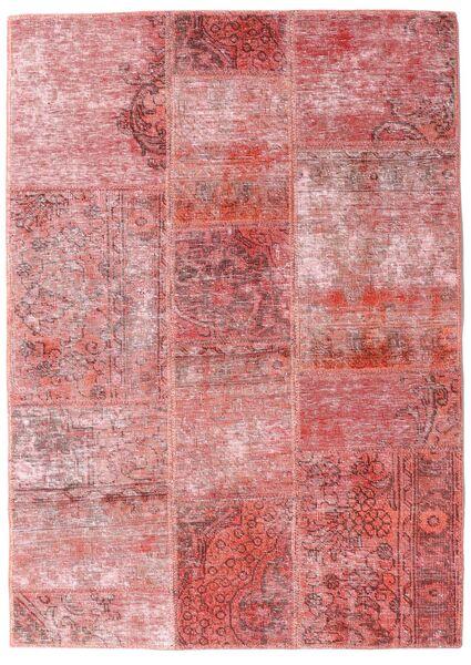 Patchwork - Persien/Iran Matto 107X151 Moderni Käsinsolmittu Vaaleanpunainen/Tummanpunainen (Villa, Persia/Iran)