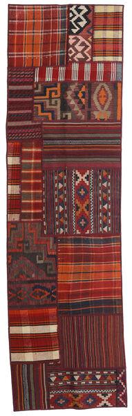 Tekkeh Kelim Matto 71X250 Moderni Käsinkudottu Käytävämatto Tummanpunainen (Villa, Persia/Iran)