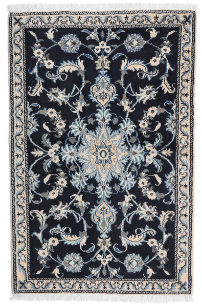 Nain Matto 85X133 Itämainen Käsinsolmittu Musta/Vaaleanharmaa (Villa, Persia/Iran)