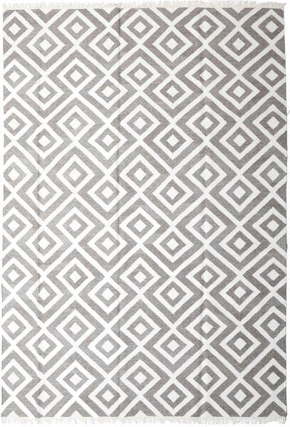 Bamboo Silkki Kelim Matto 250X350 Moderni Käsinkudottu Vaaleanharmaa/Valkoinen/Creme Isot (Villa/Bambu Silkki, Intia)
